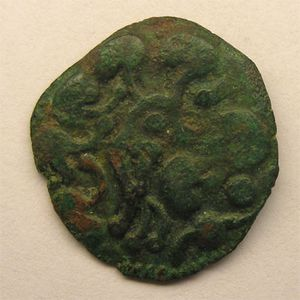 Photo numismatique Monnaies Gauloises Bellovaques Bronze au lion