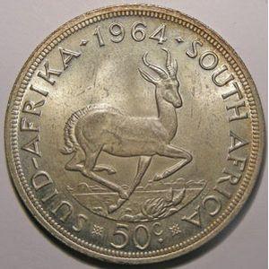 Photo numismatique Monnaies Etrang�res Afrique du Sud 50 Cents