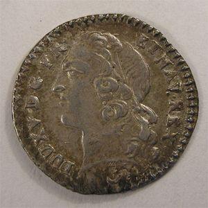 Photo numismatique Monnaies Royales Françaises LOUIS XV (1715-1774) 1/20 ème Ecu au bandeau