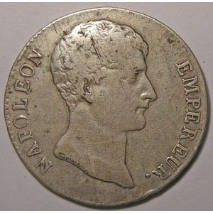 Photo numismatique Monnaies Françaises 5 Francs Gadoury 579. Napoléon Empereur