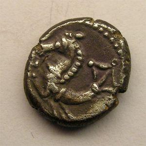 Photo numismatique Monnaies Gauloises Allobroges Denier à l'hippocampe