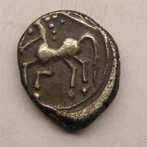 Photo numismatique Monnaies Gauloises Allobroges Denier au cheval et au caducée