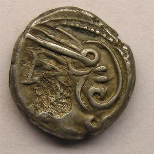 Photo numismatique Monnaies Gauloises Lingons Denier KALETEDOY
