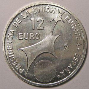 Photo numismatique Monnaies Euros Espagne 12 Euro