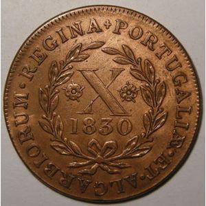 Photo numismatique Monnaies Etrangères Açores 10 Reis