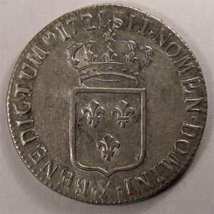 Photo numismatique Monnaies Royales Fran�aises LOUIS XV (1715-1774) 1/3 Ecu de France