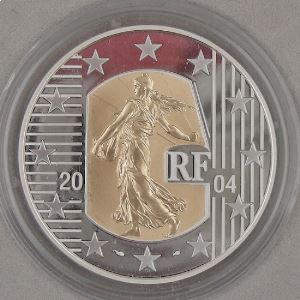 5 Euro 2004 BE Or et Argent, La Semeuse Marianne