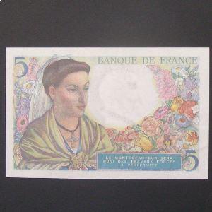 5 Francs Berger 2-6-1943 , TTB+/SUP
