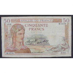 50 Francs Cérès 16.7.1936, W.4779, TB