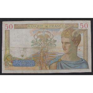 50 Francs Cérès 5.8.1937, Q.6574, TB