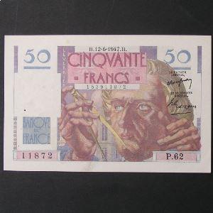 50 Francs Le Verrier 12-6-1947 , TTB/TTB+