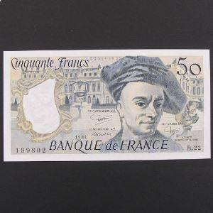50 Francs Quentin de la Tour 1981 , SUP+