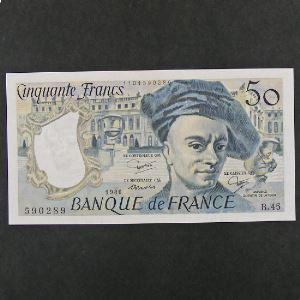 50 Francs Quentin de la Tour 1986, SPL