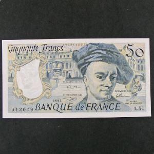50 Francs  Quentin de la Tour 1992, SPL