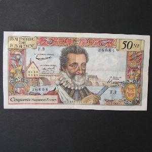 50 Nouveaux Francs Henri IV 2-7-1959 , TTB/TTB+