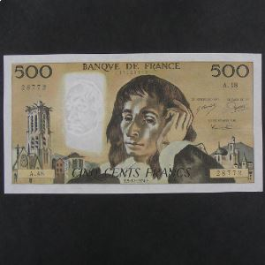 500 Francs Pascal 5.12.1974, TTB+