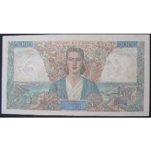 5000 Francs Empire Français 23.8.1945, F: 47/40, SUP