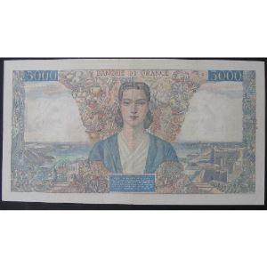 5000 Francs Empire Français 7.2.1946, TTB+/SUP