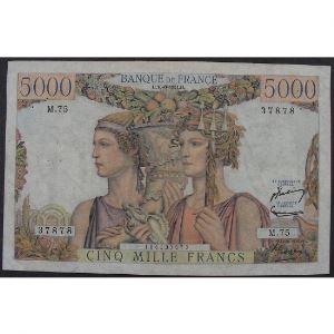 5000 Francs Terre et Mer 16.8.1951, M.75, TB+