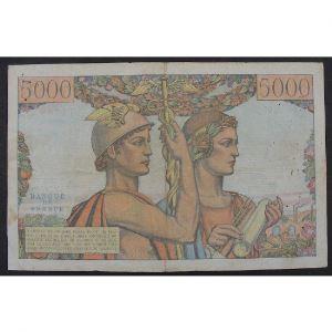 5000 Francs Terre et Mer 5.4.1951, A.65, TB/TB+