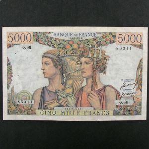 5000 Francs Terre et Mer 5.4.1951, TB+