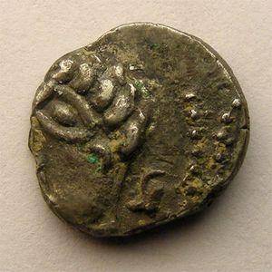 Photo numismatique Monnaies Gauloises Leuques Denier COLIMA/SOLIMA
