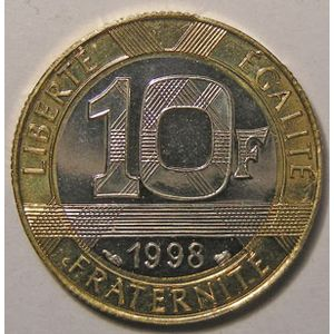 Photo numismatique Monnaies Françaises 10 Francs Gadoury 827. Génie de la Bastille
