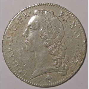 Photo numismatique Monnaies Royales Fran�aises LOUIS XV (1715-1774) Ecu au bandeau