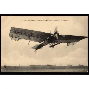 51 - CAMP DE CHALONS - L'Aéroplane - Monoplan Antoinette en plein vol