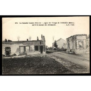 51 - NORMEE (Marne) - Aspect du Village de Normée aprés le passage des Allemands
