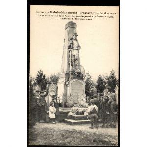 51 - PASSAVANT EN ARGONNE - Le Monument - Environs de Sainte Ménéhould