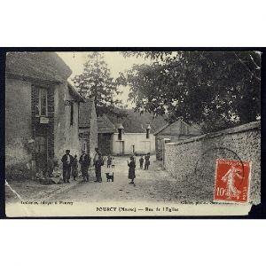51 - POURCY (Marne) - Rue de l'Eglise - RARE