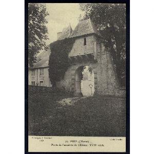 51 - PRIN (Marne) - Porte de l'Enceinte du Château - XVIIe Siècle