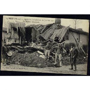 51 - RECY (Marne) - Aprés les Inondations de Janvier 1910 - La Maison MAILLARD
