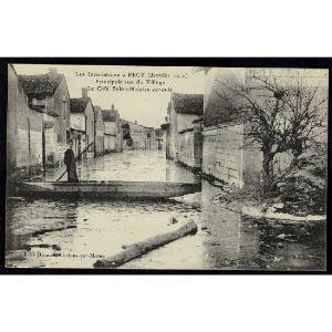 51 - RECY (Marne) - Les Inondations à Recy (Janvier 1910) Principale Rue du Village - Le Café Saint Nicolas écroulé