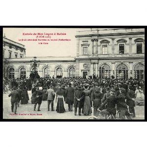 51 - REIMS - Entrée de Mgr Luçon à Reims (5 Avril 1906) - La foule attendant l'arrivée du nouvel Archevèque à la Gare