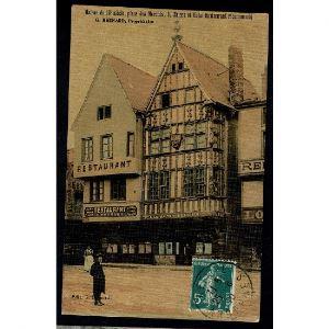 51 - REIMS - Maison du 13e siècle, Place des Marchés, 9, Reims et Hôtel Restaurant recommandé - G. Bernard, Propriétaire