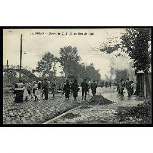51 - REIMS (Marne) - Départ du C. B. R. au Pont de Vesle