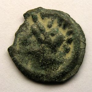 Photo numismatique Monnaies Gauloises Leuques Potin au sanglier enseigne