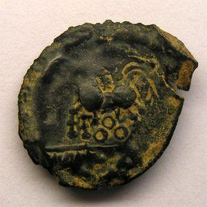 Photo numismatique Monnaies Gauloises Bituriges-Cubes Bronze au cheval et aux annelets