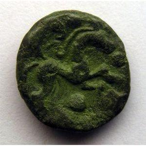 Photo numismatique Monnaies Gauloises Ambiens Bronze au cheval