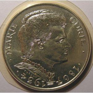 Photo numismatique Monnaies Françaises 100 Francs Gadoury 899. Marie Curie