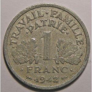 Photo numismatique Monnaies Françaises 1 Franc Gadoury 471. Etat Français