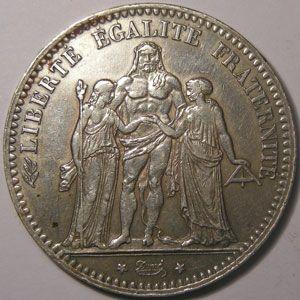 Photo numismatique Monnaies Françaises 5 Francs Gadoury 745a. Hercule