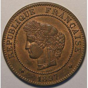 Photo numismatique Monnaies Françaises 5 Centimes Gadoury 157a. Cérès