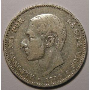 Photo numismatique Monnaies Etrangères Espagne Alfonso XII (1874-1885)