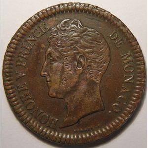 Photo numismatique Monnaies Etrang�res Monaco Honor� V (1819-1841)