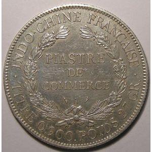 Photo numismatique Monnaies Etrangères Indochine 1 Piastre