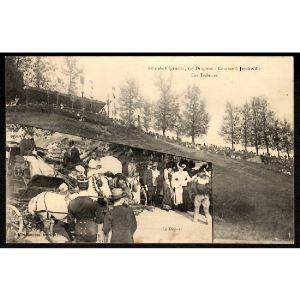 54 - JEZAINVILLE (Meurthe et Moselle) - Fête du régiment, 12e Dragons - Courses à Jezainville - Les Tribunes