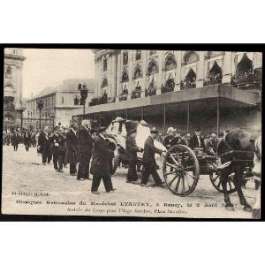 54 - NANCY - Obsèques Nationales du Maréchal LYAUTEY à Nancy le 2 août 1934